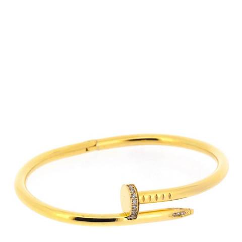 Chloe Collection by Liv Oliver Gold Embellished Nail Head Bangle
