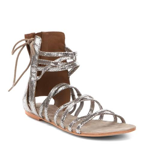 Free People Taupe Leather Juliette Wrap Sandal