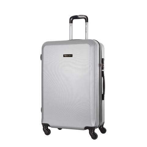 Travel One Silver Alicudi Spinner Suitcase 55cm