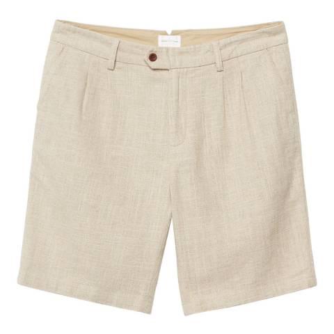 Gant Beige Linen Cotton Shorts