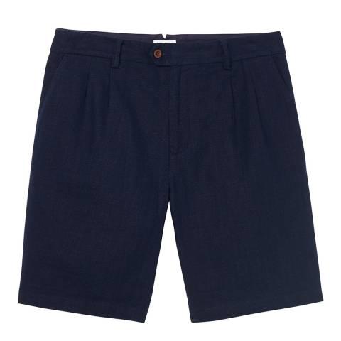 Gant Navy Linen Cotton Shorts
