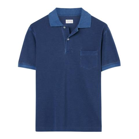 Gant Blue Short Sleeve Pique Cotton Polo Top