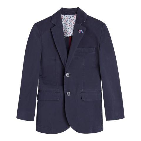 Hackett London Older Boy's Dark Blue Cotton Washed Blazer