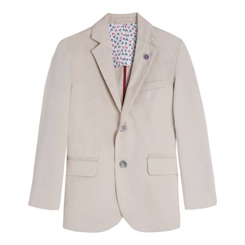 Hackett London Older Boy's Stone Cotton Washed Blazer