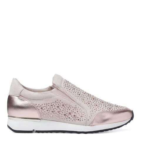 Carvela Nude Suedette Embellished Jazz Sneaker