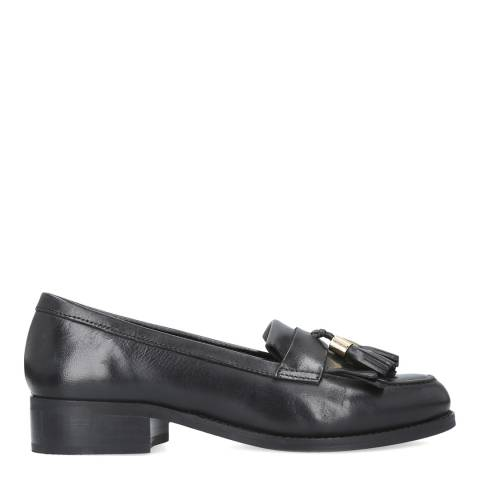 Carvela Black Leather Manor Tassel Loafers