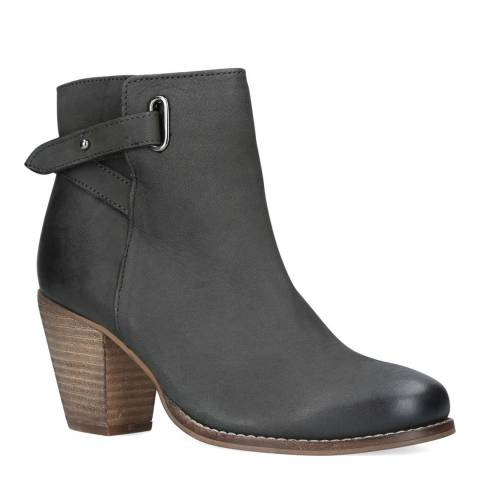 Carvela Grey Leather Smart Ankle Boots