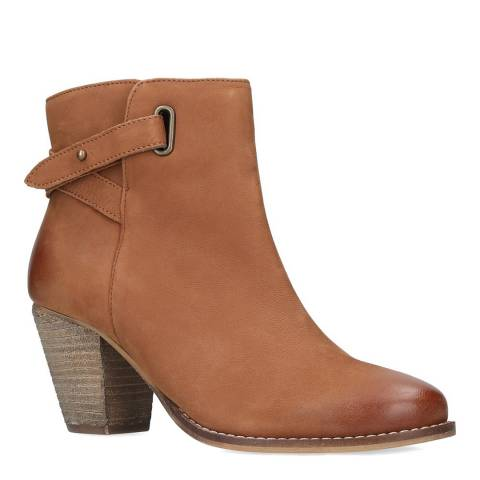 Carvela Tan Leather Smart Western Ankle Boots