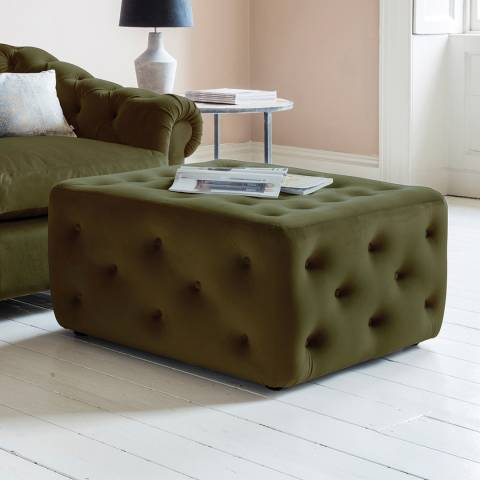 Gallery Hampton Ottoman in Brussels Olive