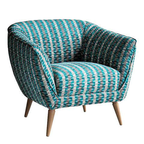 Gallery Holborn Tub Chair in Subway Teal 870x790x775mm
