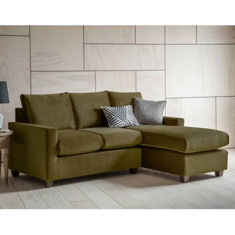 Gallery Stratford Left Hand Chaise Sofa in Brussels Olive