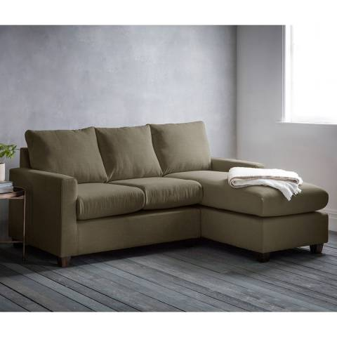 Gallery Stratford Left Hand Chaise Sofa in Field Army
