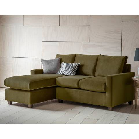 Gallery Stratford Right Hand Chaise Sofa in Brussels Olive