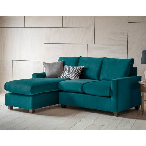 Gallery Stratford Right Hand Chaise Sofa in Brussels Petrol