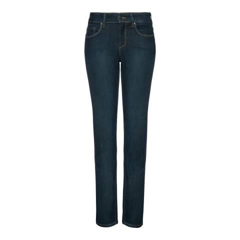 NYDJ Indigo Marilyn Straight Cotton Blend Jeans