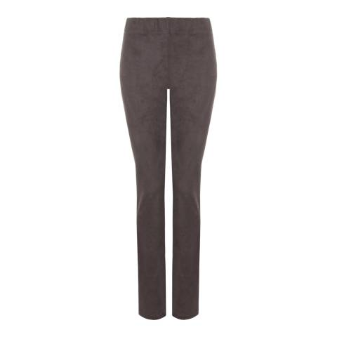 NYDJ Taupe Evie Suede Look Pullon Jeggings