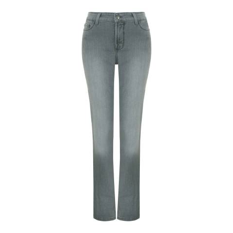 NYDJ Grey Wash Samantha Slim Cotton Blend Jeans