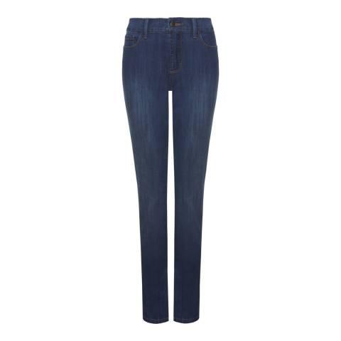 NYDJ Indigo Wash Samantha Slim Cotton Blend Jeans