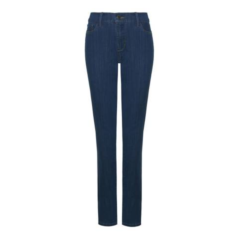 NYDJ Medium Blue Wash Samantha Slim Cotton Blend Jeans