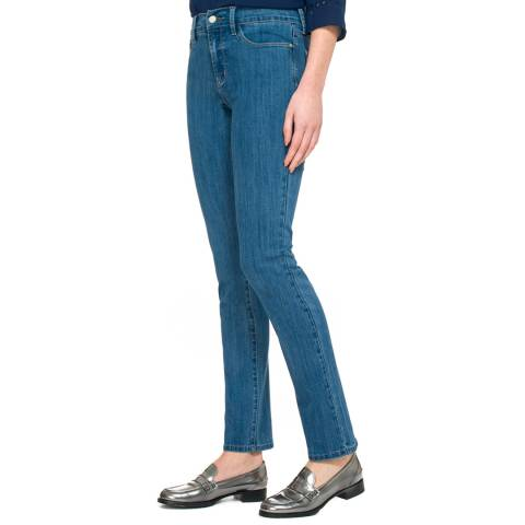 NYDJ Light Blue Wash Samantha Slim Cotton Blend Jeans