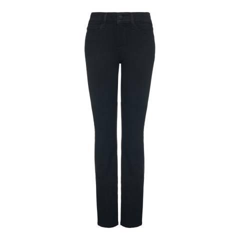 NYDJ Black Marilyn Straight Cotton Blend Jeans