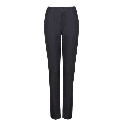 NYDJ Deep Indigo Samantha Slim Cotton Blend Jeans