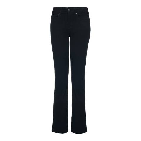 NYDJ Black Barbara Boot Leg Cotton Blend Jeans
