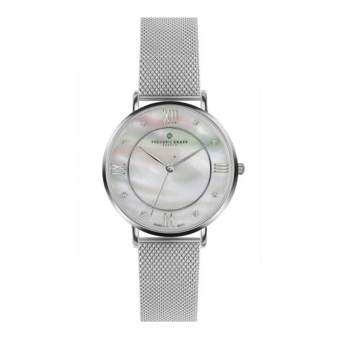 Frederic Graff Women's Silver Liskamm Watch 38mm
