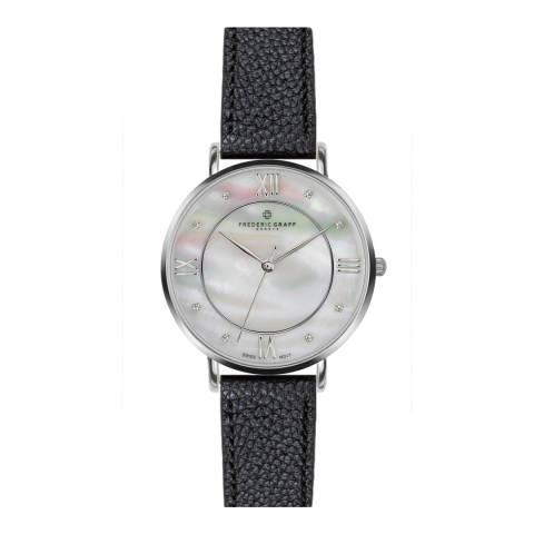 Frederic Graff Women's Silver/Black Liskamm Watch 38mm