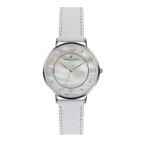 Frederic Graff Womens Silver/White Liskamm Watch 38mm