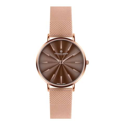 Frederic Graff Women's Rose Gold Monte Rosa Watch 38mm