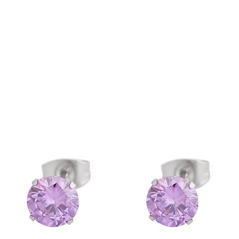 Alexa by Liv Oliver Lavender Crystal Stud Earrings