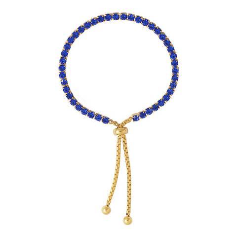 Liv Oliver Gold Blue Crystal Tennis Bracelet