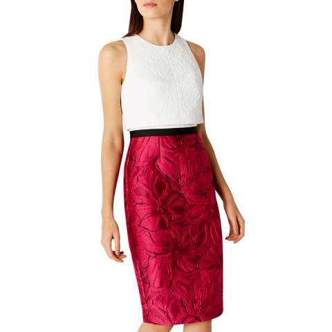 Coast White/Cherry Ayla Shift Dress