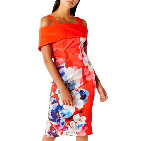 Coast Orange/Multi Immo Print Shift Dress