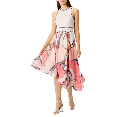 Coast Blush/Pink Malacom Pleated Midi Dress