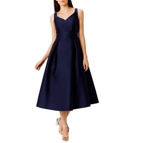 Coast Navy Taylor Midi Bridesmaid Dress