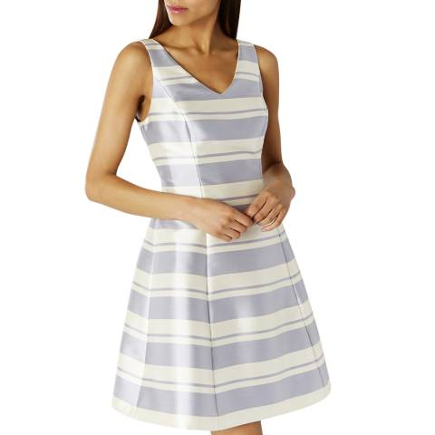 Coast Pale Blue/Off White Tilly Stripe Dress