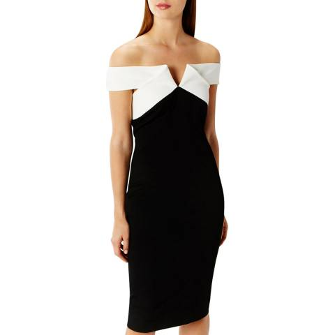 Coast Monochrome Tina Twist Dress