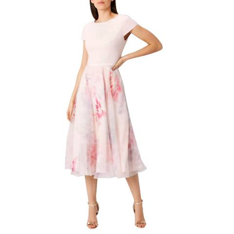 Coast Blush Abbey Print Surana Dress