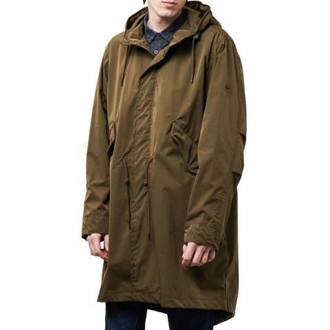 PARKA LONDON Men's Finlay Essential Olive Rain Parka