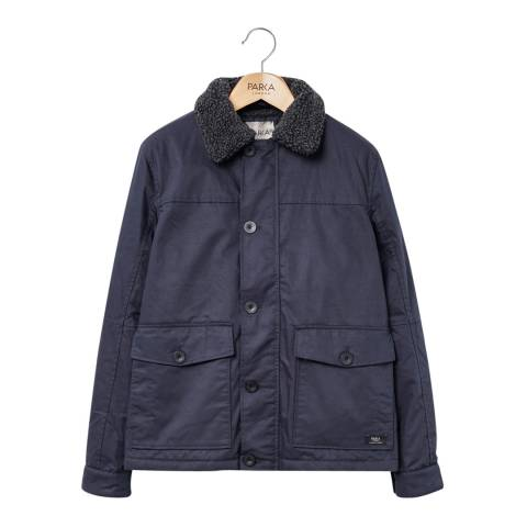 PARKA LONDON Men's Navy Maron Water Resistant Jacket