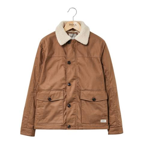 PARKA LONDON Men's Tan Maron Water Resistant Jacket