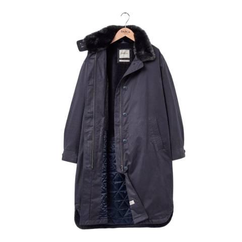 PARKA LONDON Women's Navy Cleo Duster Coat