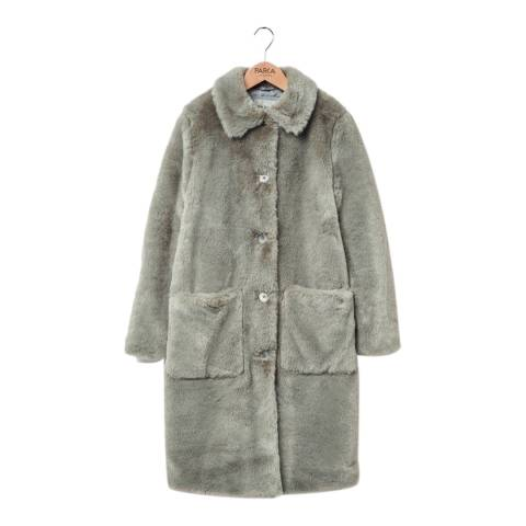 PARKA LONDON Women's Sage Faux Fur Coat