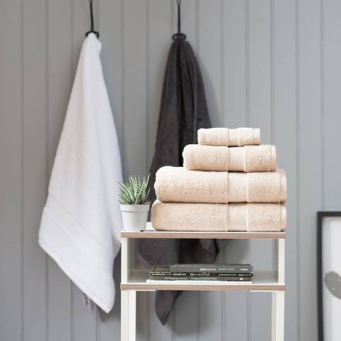 The White Room Latte Hotel Collection Bath Towel