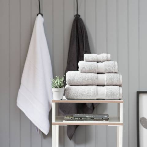 The White Room Silver Hotel Collection Bath Towel