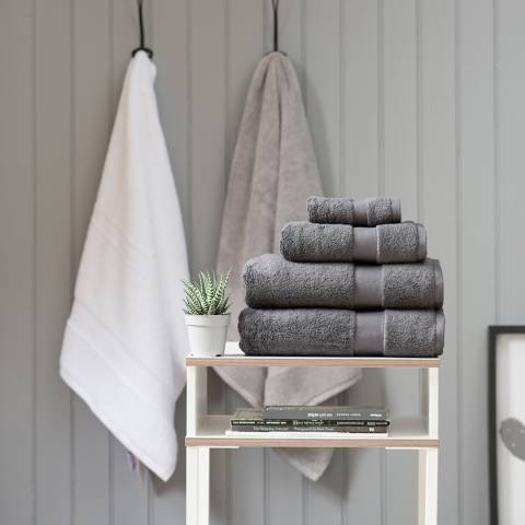 The White Room Charcoal Hotel Collection Bath Towel