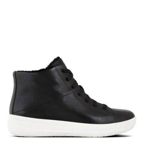 FitFlop Black F Sporty High Top Sneaker