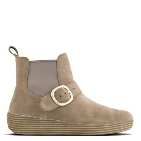 FitFlop Desert Stone Suede Superbuckle Chelsea Boots